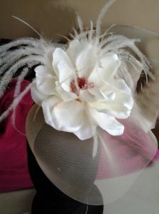 Blanco y plumas